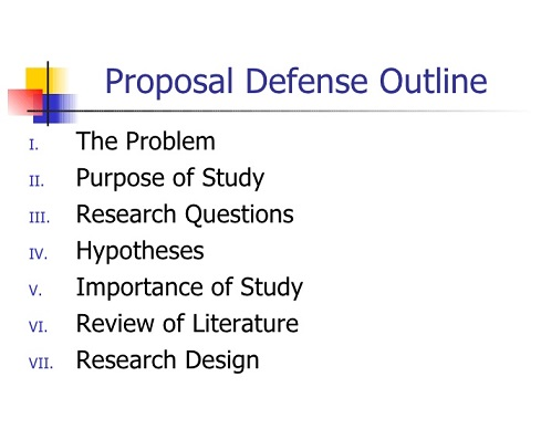 The Proposal Defense Session at the Department of Physiology